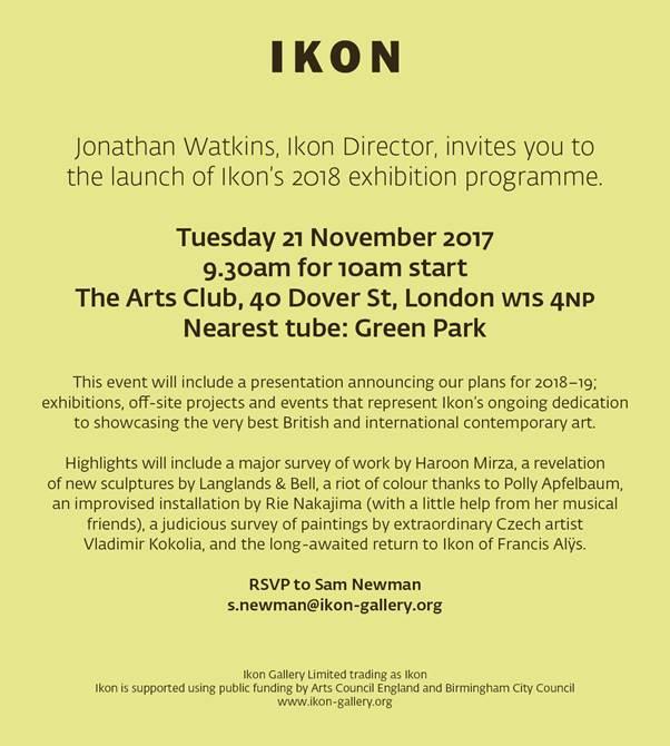 Ikon programme 2018